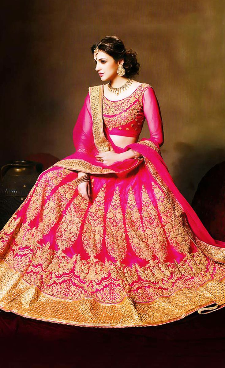 A designer lehenga with hand made work on it can enhance the beauty of a bride on her wedding. Get the tag of gorgeous looking at your wedding by choosing a bridal lehenga on rent from Rent2cash at this instant.