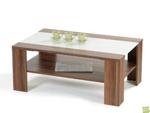 Agionda ® Couchtisch Adventure 12 Nussbaum Dunkel Mit Weisser Glaseinlage  (nussbaum, 11o Cm) Home Design Ideas