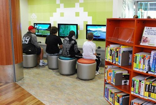 Mount Gambier Library Teen Young Adult Gaming Area - Could also be used for separate computer stations for teens. IF