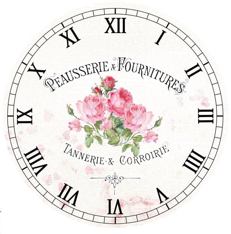 Pink roses clock face