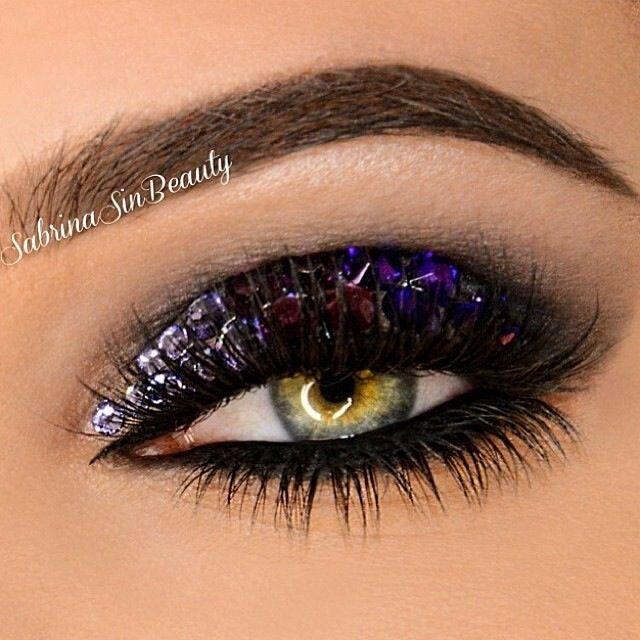 @SabrinaSinBeauty - bejeweled eye makeup