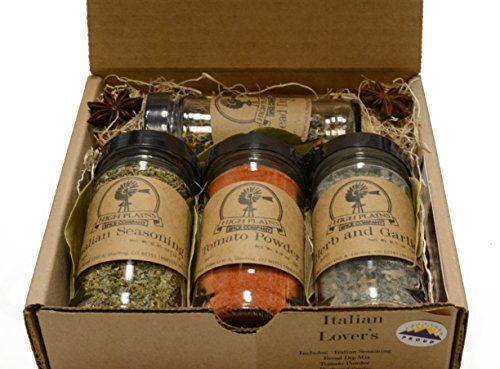 Italian+Lovers+Gift+Set+of+4+~+Gift+Set+by+High+Plains+Spice+Company+~+Gourmet+Meat+and+Veggie+Spice+Blends+&+Rubs+For+Beef,+Chicken,+Veggies+&+All+Recipes+~+Spice+Blends+Handcrafted+In+Colorado,+USA