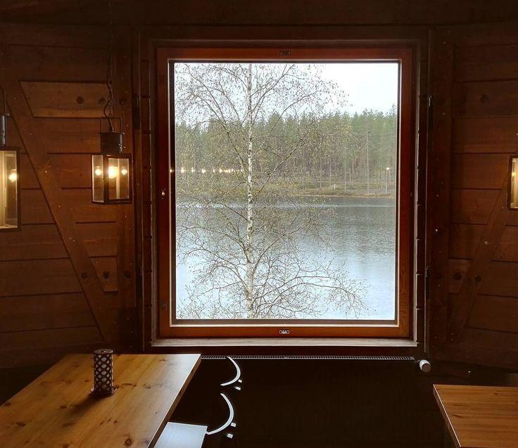 Kammi - Rokua Health&Spa Hotel. Viihtyisän Kammin ikkunasta voi ihailla kaunista Ahveroisen järveä. Täällä kokoukset ja juhlat järjestyvät tunnelmallisissa puitteissa #rokuahealthspa #rokua #kammi #kokoustila #juhlatila #järvimaisema #tunnelma #koivu #visitrokua #suomenluonto #visitoulu #kokouspaikka