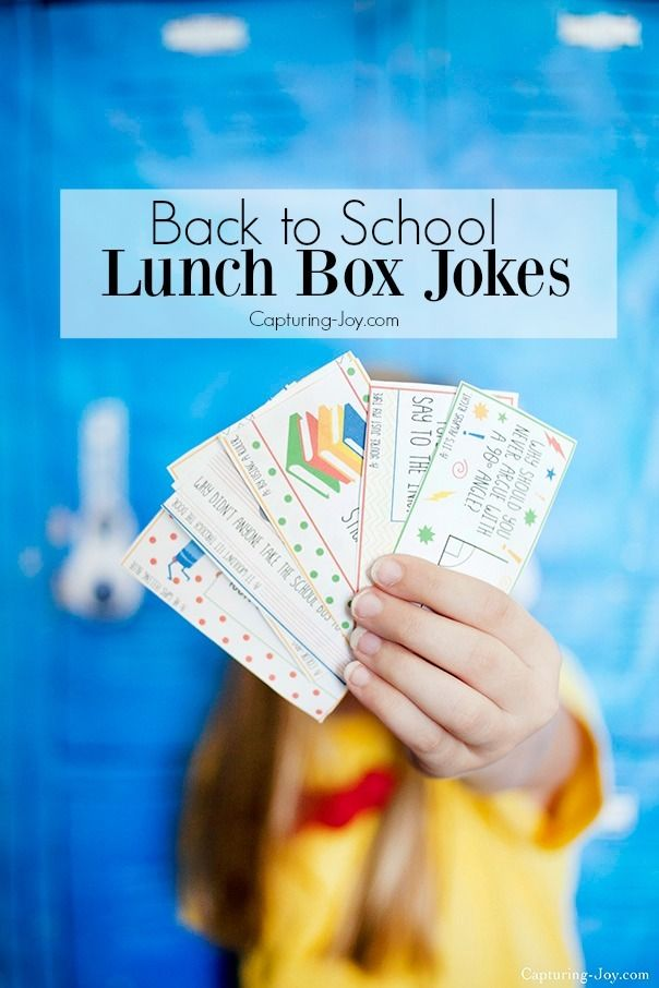 Back to School Kids Lunch Box Jokes free printable. www.capturing-joy.com