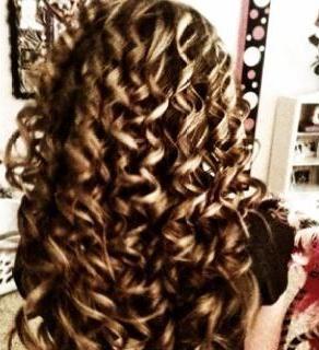 Ringlet Curls my hair looks like this.   Ha ha ha