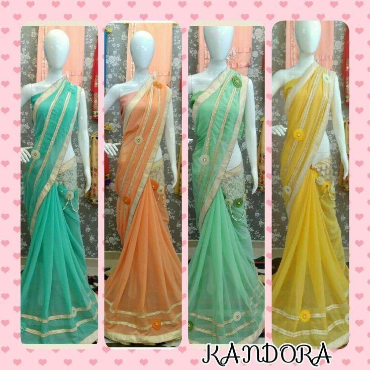 Indian Wedding Sarees Bollywood Pakistani Ethnic Party Wear Sari Blouse KDR #RuviFashion #DesignerSaree
