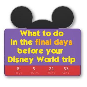 What to do in the days leading up to your WDW trip - what to BUY, what to PRINT and what to PACK