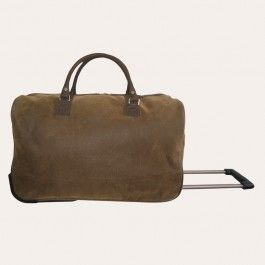 Redcurrent - Angola Brown Trolley Bag | Travel in style