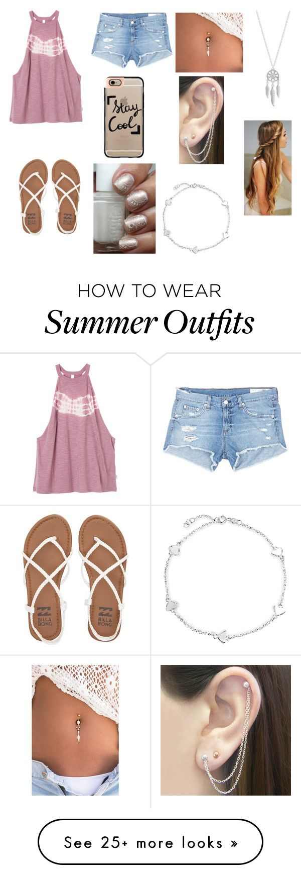 """Summer Outfit"" by simpsons-4-ever on Polyvore featuring RVCA, rag & bone/JEAN, Billabong, Casetify, Lucky Brand, Otis Jaxon and Bling Jewelry"