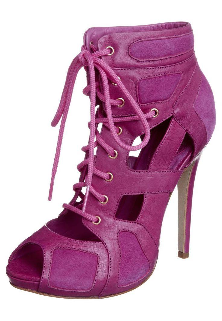 alexander mcqueen high heels   McQ Alexander McQueen - High Heel Peeptoe - hot pink