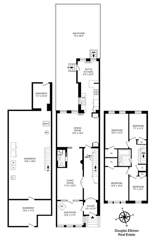 Three Story House Floor Plans also 2 Story 4 Apartment Beach House Plans moreover Narrow House Plans together with Yoko Ono Lists Loft Like Downtown Townhouse 292 together with Townhouse House Plans. on urban townhouse plans narrow