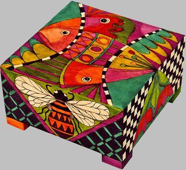Las cajas decoradas son un arte.