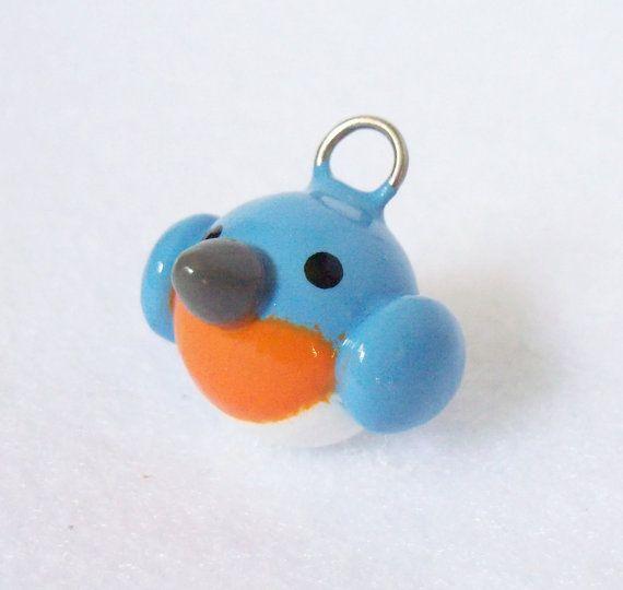 Bluebird mignon charm breloque argile polymère fabriqués à la main charm pour charm