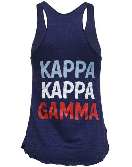 : Patriots Tanks, Greek Accessories, Gamma Forever, Greek Apparel, Greek Life, Kappa Gamma, Kappa Kkg, June Tanks, Amma Kappa