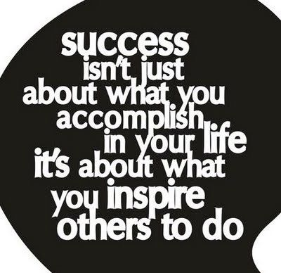 Success isn't just about what you accomplish in your life, it's about what you inspire others to do.  #PictureQuotes, #Life, #Success, #Accomplishments, #Inspire   If you like it ♥Share it♥  with your friends.  View more #quotes on http://quotes-lover.com/