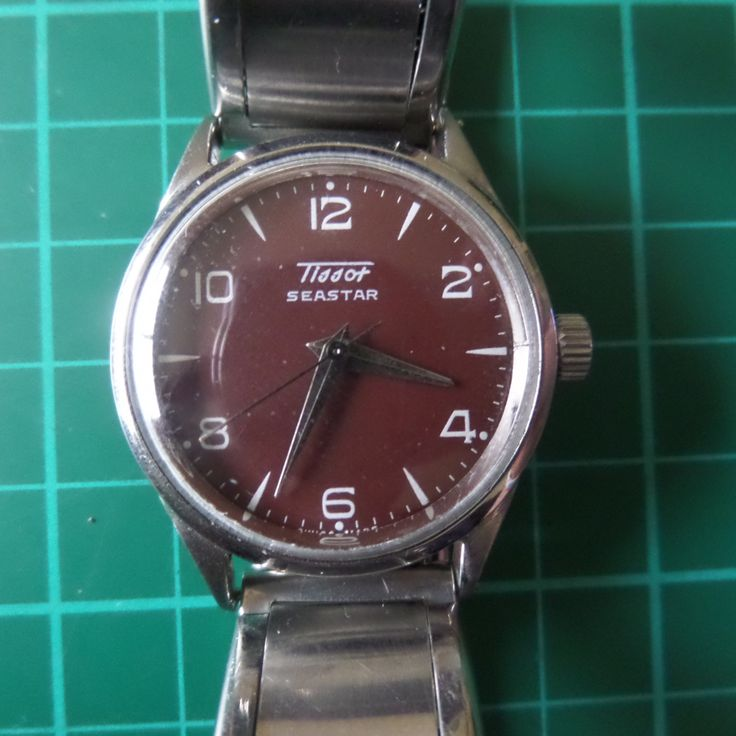 TISSOT SEASTAR - 1957 Vintage Guaranteed Genuine, Swiss made Gents/Mens mehanical mechainsim wrist watch by EWcoLondon on Etsy