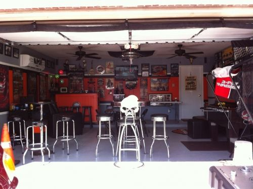 Garage man cave ideas motorcycle ideas designs for Motorcycle garage plans