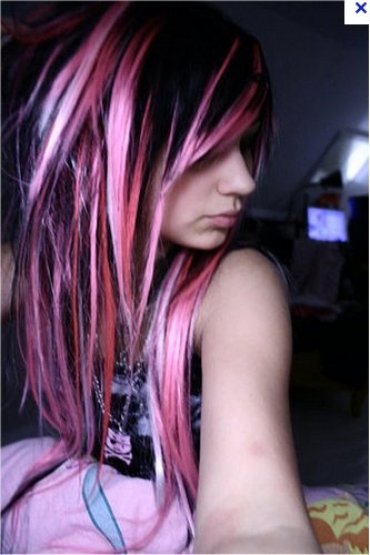Pleasant 17 Best Ideas About Pink And Black Hair On Pinterest Crazy Color Hairstyles For Men Maxibearus