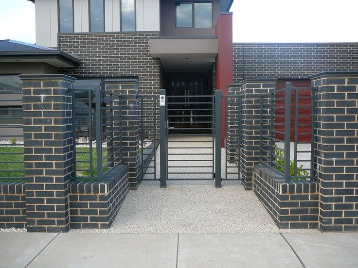 awesome Кирпичный забор (57 фото): надежность, безопасность, эстетика