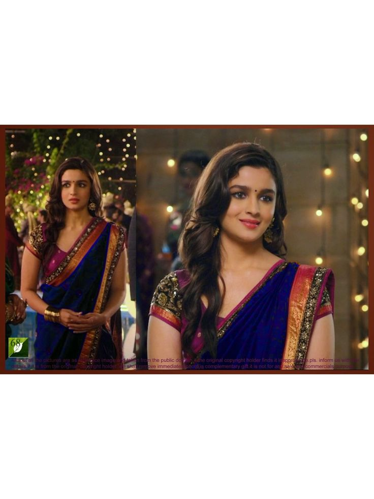 Perfect selection for any festive events, bollywood celeb Alia Bhatt blue georgette saree, This saree is made of  georgette & art silk material with beautiful embroidery work on its pallu.  Price of saree is only 1449 INR. Get Free shipping & COD. For more : http://www.high5store.com/designer-sarees/281621-bollywood-aliya-bhatt-blue-melange-georgette-saree.html