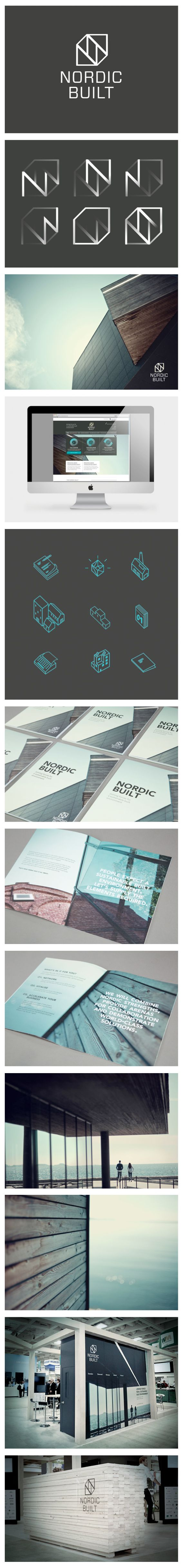 NORDIC BUILT - Branding, Exhibition Design | #stationary #corporate #design #corporatedesign #logo #identity #branding #marketing <<< repinned by an #advertising agency from #Hamburg / #Germany - www.BlickeDeeler.de