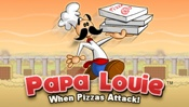 Papa Louie: When Pizzas Attack! - The adventure that started it all! While Papa Louie was hosting a party at Papa's Pizzeria, the Infamous Onion Ring infiltrated all the orders. Delicious pizzas were transformed into gooey Pizza Monsters that kidnapped all of Papa Louie's customers, teleporting them to a far off lands. Armed with his trusty pizza paddle and loads of Pepper Bombs, Papa Louie must rescue all his loyal customers and put an end to the Infamous Onion Ring.