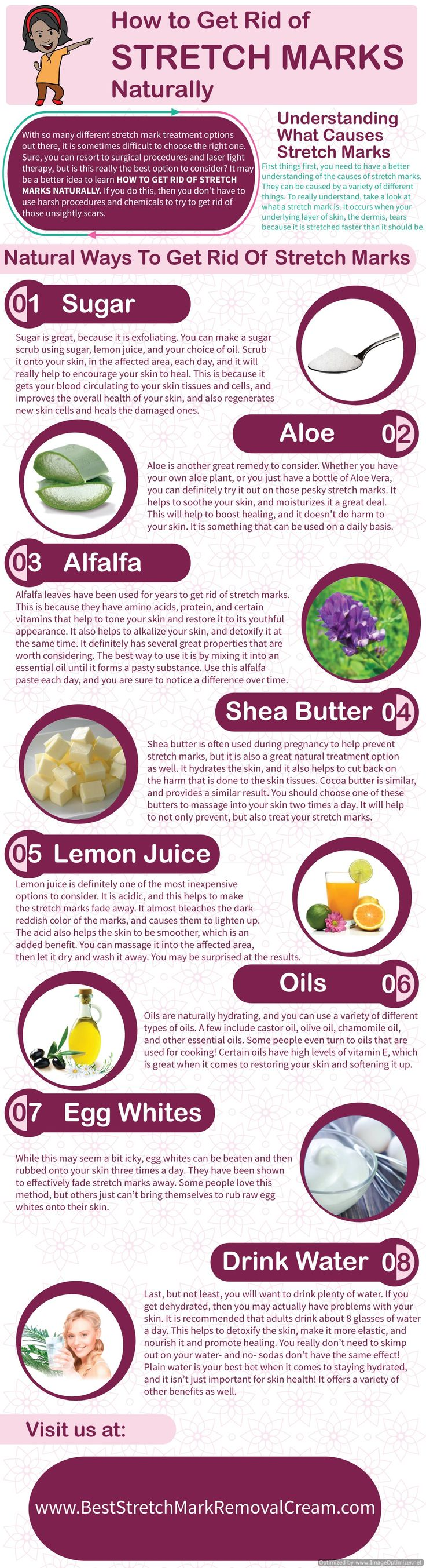 If you are looking for a way to get rid of your stretch marks, but don't want to turn to invasive procedures, then you are in luck. Here are a few ways to get rid of them naturally, and effectively. *** Obviously, all my vegan friends can skip the egg whites ***