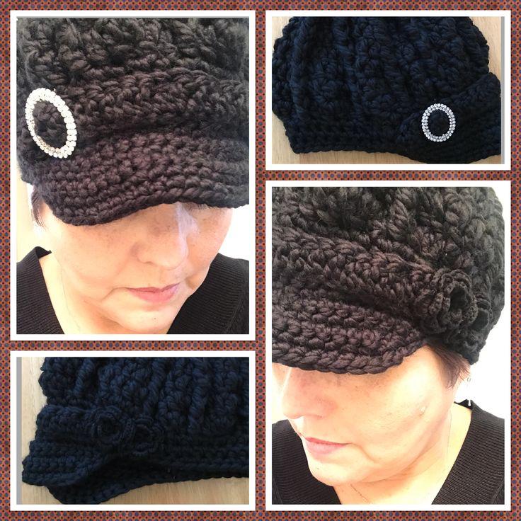 Black Newsboy Hat