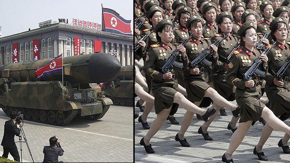 ABDnin nükleer denizaltısı Kore kıyısına ulaştı... Kuzey Koreden büyük tatbikat