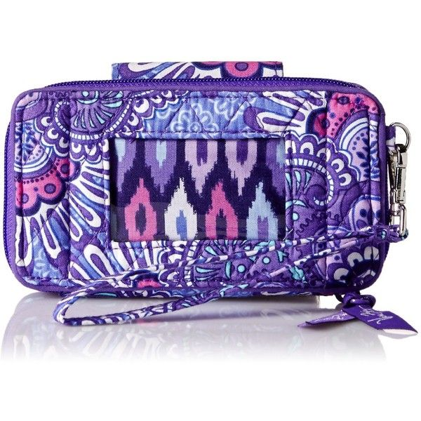 Vera Bradley Smartphone for Iphone 6 Wristlet ($48) ❤ liked on Polyvore featuring accessories, tech accessories, zipper wristlet, vera bradley, wristlet smartphone, smart phone wristlet and smartphone wristlet