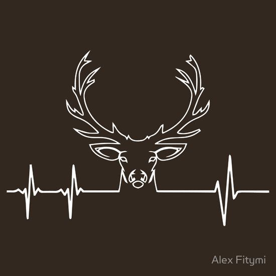 Hunting Heartbeat T-Shirt - Deer Heartbeat - I Love Hunting