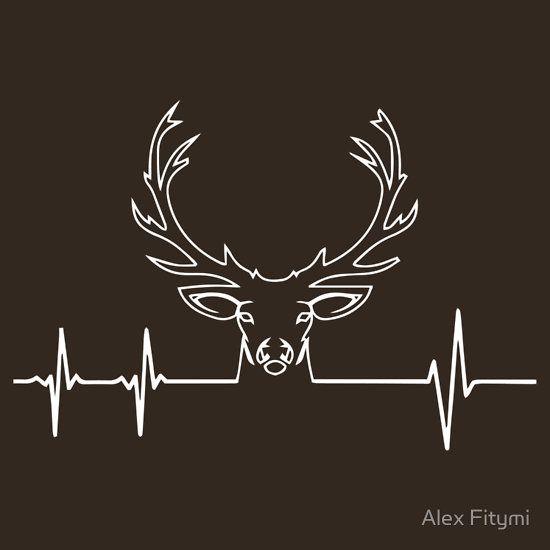 Hunting Heartbeat T-Shirt - Deer Heartbeat - I Love Hunting