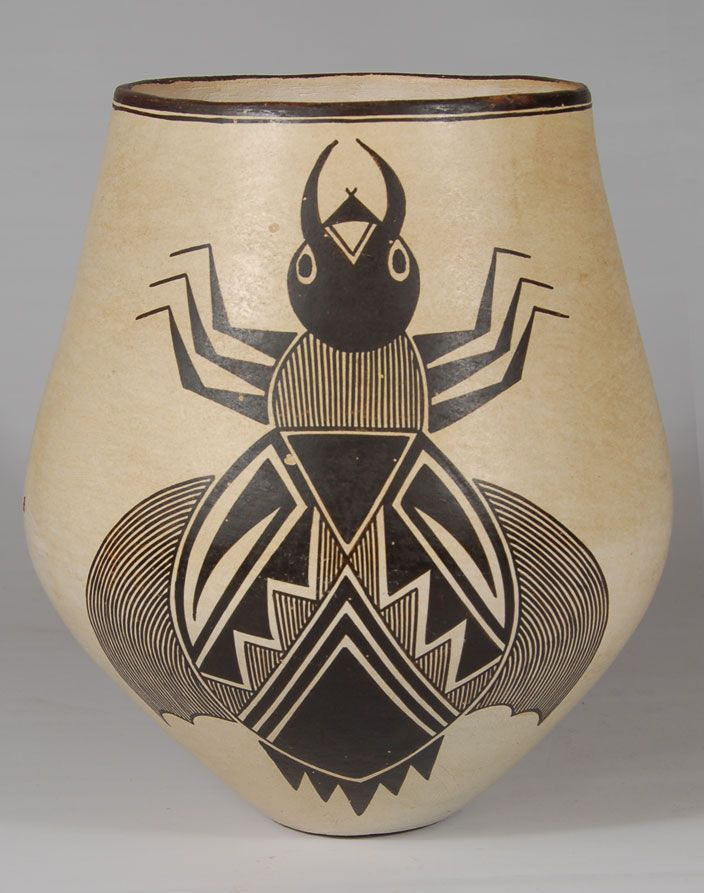 Acoma contemporary pottery