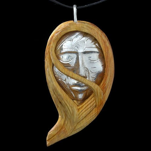 Hummingbird Woman Pendant by Luke Marston, Coast Salish (Chemainus) artist (W110807)