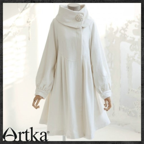 Artka OriginalThe classic white Australian wool winter coat A04047 | ArtkaFashion - Clothing on ArtFire