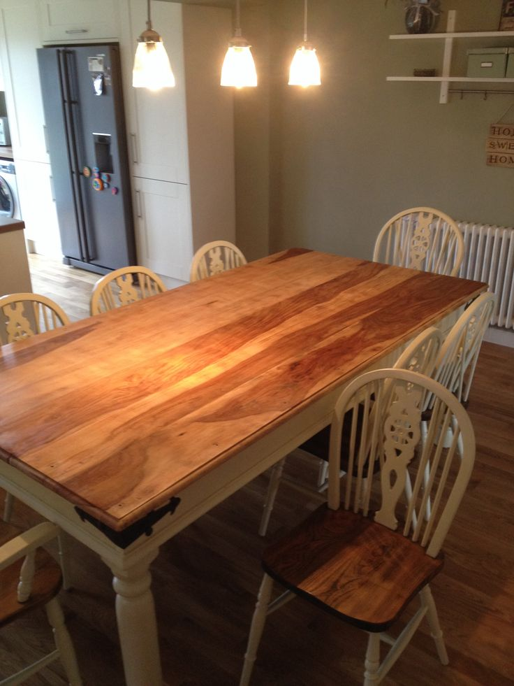 Stunning Indian Rose Wood Table And Oak Chairs Restored