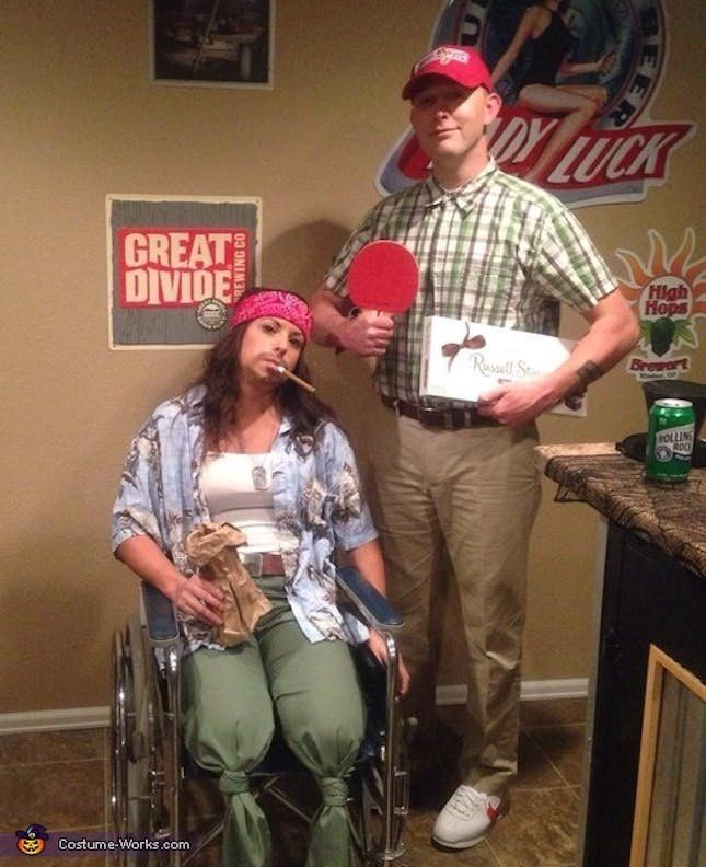 Loving this spot-on Forrest Gump + Lieutenant Dan Halloween costume.