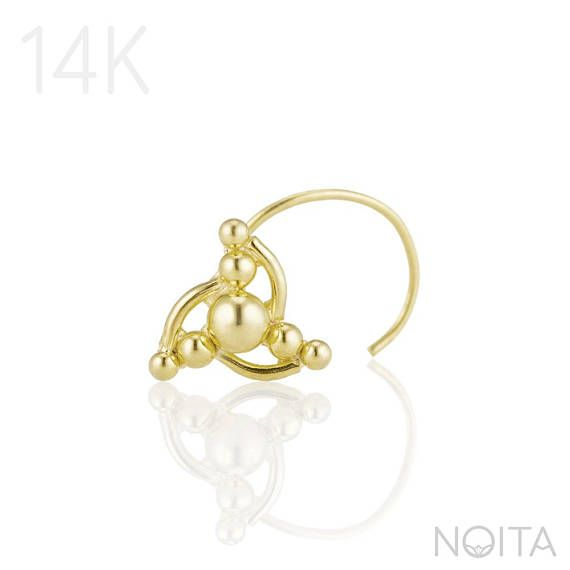 Nose Stud, 14K Gold OR Sterling Silver Nose Screw, Indian Nose Piercing Jewelry, Fits Tragus, Cartilage, Helix, Gauge Selection.  Whether worn as a fashion statement, a cultural tradition or a sign of rebellion- piercings have always been a special way to express ourselves. Piercings mean beauty, daring and a special way to evaluate our body.  My new collection combines high quality with exotic, wild tribal style, and cleanliness modern western style. Together they create a daring yet…