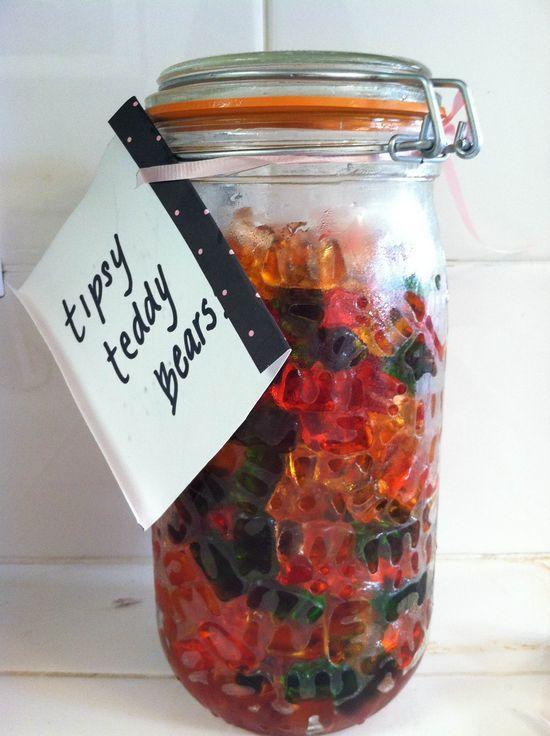 """Drunken Vodka Gummi Bears: *FYI - Rum may also be used to create """"Rummy Bears!"""""""