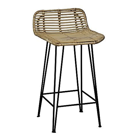 Resonate a relaxed feel in your space with the textured weave of the durable Coronado Rattan Bar Stool from Beaumont & Braddock.