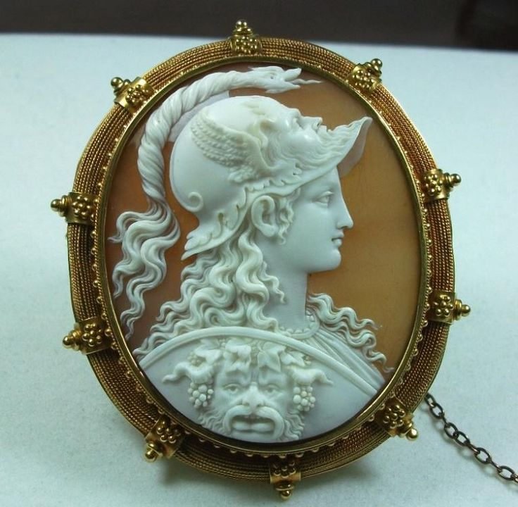 299 best cameo jewelry images on pinterest exceptional rarest shell cameo brooch of goddess athena signed filippo tignani mozeypictures Choice Image