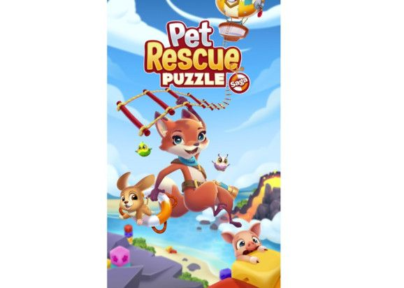 King Launches Pet Rescue Puzzle Saga For Ios And Android Animal Rescue Candy Crush Saga Pets