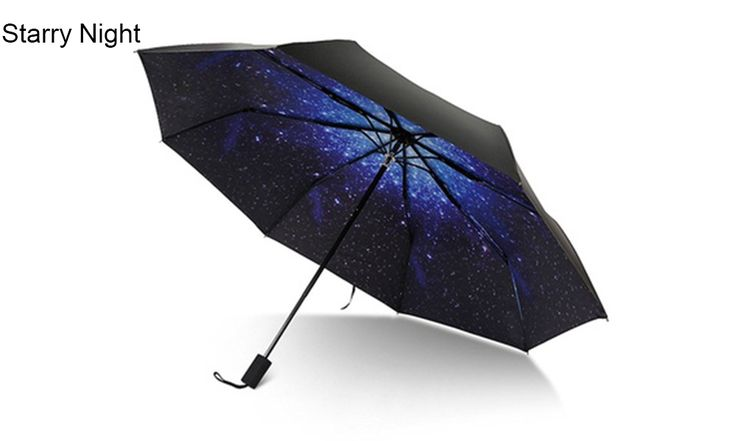 Double-Sided Umbrella- Foldable With a C-Handle - Umbrellas