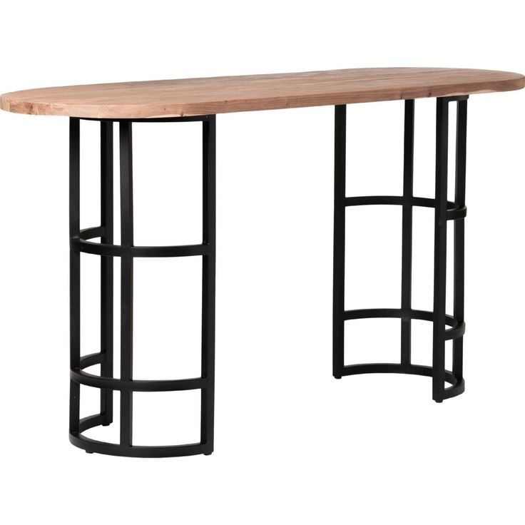 Moe's Home Collection VE-1009-21 Race Oval Bar Table in Light Brown