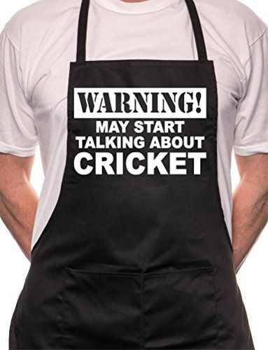 May Start Talking About Cricket Bbq Cooking Funny Novelty Apron Black