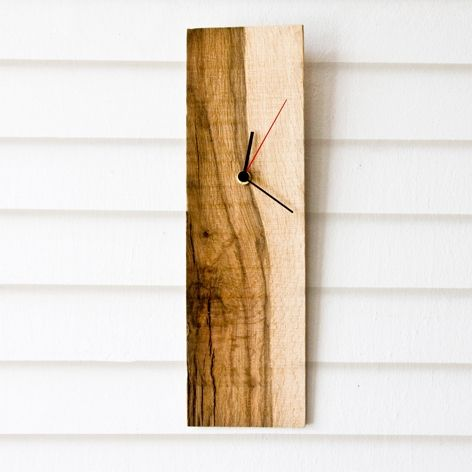 modern wall clock salvaged wood rectangular wooden clock elian