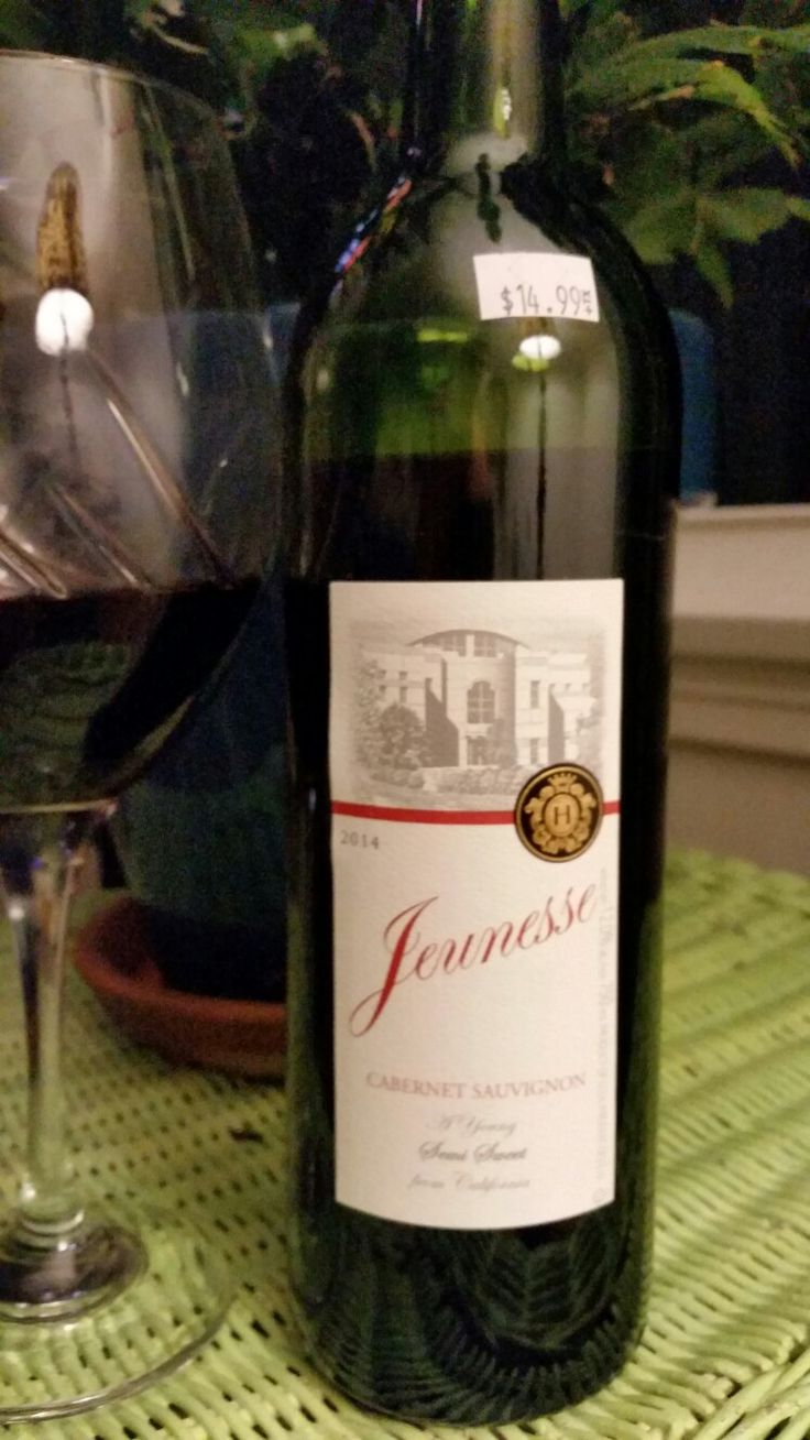 Jeunesse Cabernet Sauvignon by Baron Herzog.  Not as dry as I normally like,  but this is really delicious!  And $14.98 wow.