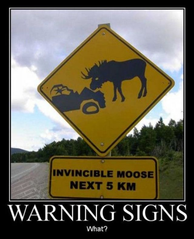 huh?Funny Billboard, Canada, Funny Signs, Funny Pictures, Invincible Moose, Funny Stuff, Street Signs, Sam Winchester, Roads