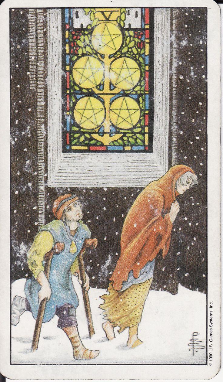 Tarot Of The Legendary: TAROT - The Royal Road: 5 FIVE OF PENTACLES V