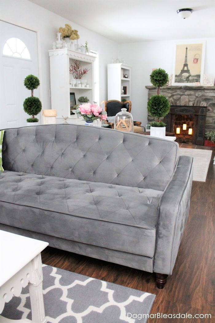 Outstanding Novogratz Vintage Tufted Sofa Bed For Under 500 Farmhouse Caraccident5 Cool Chair Designs And Ideas Caraccident5Info